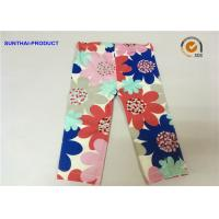 China Large Floral Printed Cute Baby Girl Leggings Color Customized For Infant wholesale