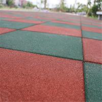 China Elementary  schools playground safety surface Rubber Tiles High Density Long service life  mat on sale