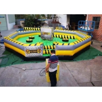 China Commercial Meltdown Mechanical Inflatable Wipe Out With 0.55mm PVC Tarpaulin wholesale