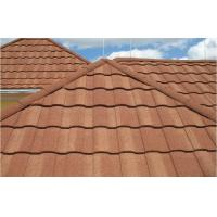 China Wave Roof Tiles Double Roman Roof Tiles Stone Coated Steel Roofing Tile on sale