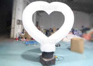 China 190T 3m White Ground Led Inflatable Love Heart Balloon wholesale