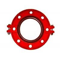 China ASTM A536 Grade 65-45-12 Ductile Cast Iron Grooved Flange FM UL Approved wholesale