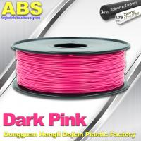 China Colored ABS 3d Printer Filament 1.75mm /  3.0mm , Dark Pink  ABS Filament wholesale