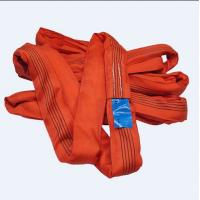 China Red 5T Endless Polyester Round Sling Oxidation Resistance With Blue Label wholesale