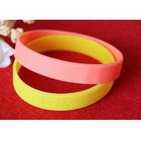 China 12mm Width Custom Silicone Rubber Wristbands Short Production Time OEM Design wholesale