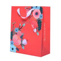 China Recyclable Custom Printed Paper Bags Craft Printing Coloured Paper Carrier Bags wholesale