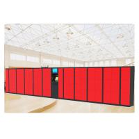 Buy cheap Red Color Electronic Luggage Lockers PIN Code Barcode Access With Custom Sizes from wholesalers