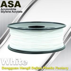 China ASA 3D Printer Filament Ultraviolet Resist 1.75 / 3.0mm Black White Colors wholesale
