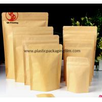 China Food Grade Stand Up Kraft Paper Pouches with Zipper and Easy Tearing Eco wholesale