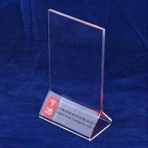 Quality A3 / A4 Transparent Tabletop Acrylic Menu Holder Triangle for Cafe Bar for sale