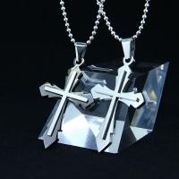 China Fashion Top Trendy Stainless Steel Cross Necklace Pendant LPC272 wholesale