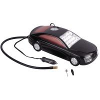 China 3 in 1 Car Shape Fast Plastic Air Compressor DC12V With LED Light For Tire Inflation wholesale