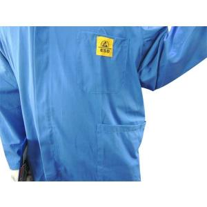 China Cleanroom Lab Blue White Static Dissipative ESD Smock wholesale