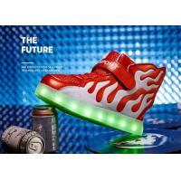 China White And Red Winter Childrens LED Shoes Unisex Sport Kids LED Shoes wholesale
