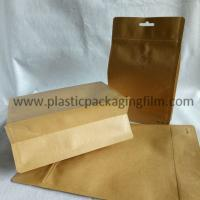 China moisture proof aluminum foiled coffee packaging bag with valve , kraft paper bag with zipper and handle wholesale