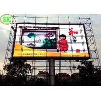 China high definition outdoor p6 full color video function pillar led display wholesale
