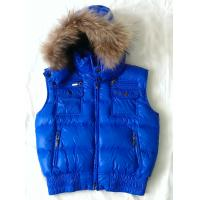 Quality Blue Duck Feather Down Jackets Kids Down Jacket Vest With Rabbit Fur for sale
