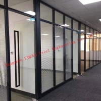 China Office Operable Full Height Desmontable Aluminum Frame Glass Partition Wall wholesale
