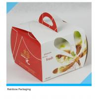 China Luxury Cake Paper Box Packaging With Transparent Window And Handle wholesale