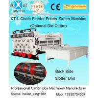 Buy cheap Semi Automatic Corrugated Box Making Machine 4 Color Carton Flexo Printer from wholesalers