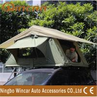 China 3 - 4 Person Canvas Sand outdoor camping Aluminum pole soft roof top campers wholesale