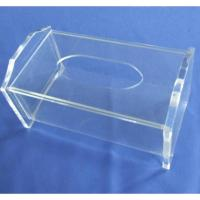 China Clear Rectangular Acrylic Tissue Paper Box With Sliding Lid wholesale