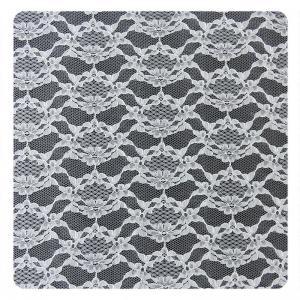 China White Thin Plain Flower 100% Nylon Net Mesh Lace Fabric 1.5 - 1.55m Width wholesale