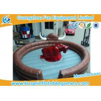 China Funny Large Inflatable Games Inflatable Mechanical Bull Riding Machine Games With Digital Printing wholesale