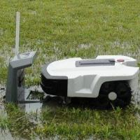 China Robotic Lawn Mowers with LCD Display, Bumping Rubber and 2-piece Independent Batteries wholesale