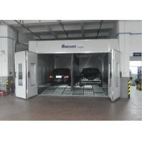 China Combined Inner Ramp Downdraft Spray Booth , Custom Paint Booth With LED Riello Burner on sale