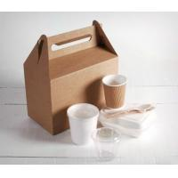 China Kinghorn Takeaway Paper Bags , Food Grade Paper Bags With Handle wholesale