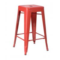 Quality Red Durable Professonal Stackable Outdoor Metal Tolix Cafe Barstool for sale