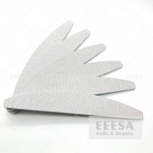China 80 100 120 150 180 220 240 280 320 Grit Semilune Custom Halfmoon Zebra Nail File wholesale