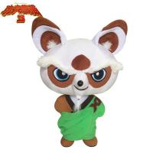 China 8 inch 3 Master Shifu Stuffed Cartoon Plush Toys Green and White wholesale