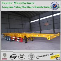 China skeleton semi trailer/container chassis semi trailer/40ft container skeleton semi trailer wholesale