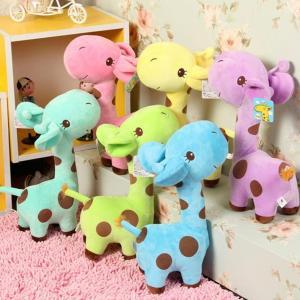 China Colorful Cute Gift Plush Giraffe Soft Toy Animal Dear Doll Baby Kid Child Birthday Happy wholesale