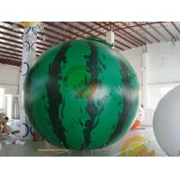 China 4m diameter watermelon Fruit Shaped Balloons Rainproof / Fireproof wholesale