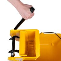 China 36L mop wringer bucket side press yellow mop bucket with wringer single bucket wholesale