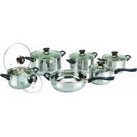China 0.55 mm Body Thickness 12 PC Cooks Stainless Steel Cookware Sets, Cooking Pot on sale