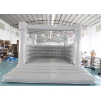 China 0.55mm PVC Inflatable White Wedding Jumper Bouncy Castle / Commercial White Castle Inflatable Bounce House wholesale