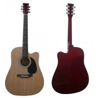 """China 41"""" Wood Acoustic Guitar Spruce Cutaway Wood With Maple Neck wholesale"""