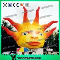 China 5m Giant Advertising Inflatable Sun with LED Light for Club and Party Decoration wholesale