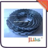 China Galvanized Steel Banding Rounded Hanging Ductwork Perforated Steel Strapping 12mm-26mm Size wholesale