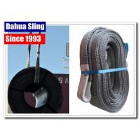 China Heavy Duty Grey Flat Lifting Slings For Cargo 4000kg ISO4878 Standard wholesale