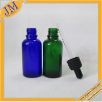 1oz blue and green dropper bottles with black plastic cap