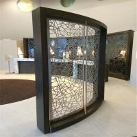 Buy cheap metal curved screen stainless steel room divider for partition wall panel from wholesalers