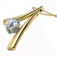 China Gold Plated  Fashion Jewelry Necklaces Diamond Necklace Design For Lover on sale