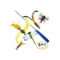 China Funny Flexible Cat Feather Toys / Cat Bird Toy With Durable Fishing Line wholesale