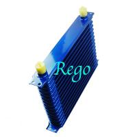 China Stacked Plate Universal Transmission Oil Cooler Kit Heavy Duty Blue Color on sale
