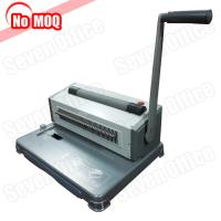 China 3 Years warranty desktop Manual perfect spiral binding machine for 46 loops coil wholesale